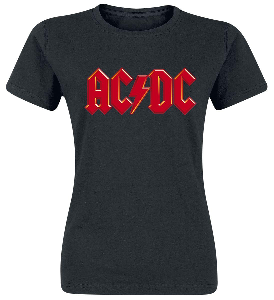 AC/DC Red Logo Koszulka damska czarny