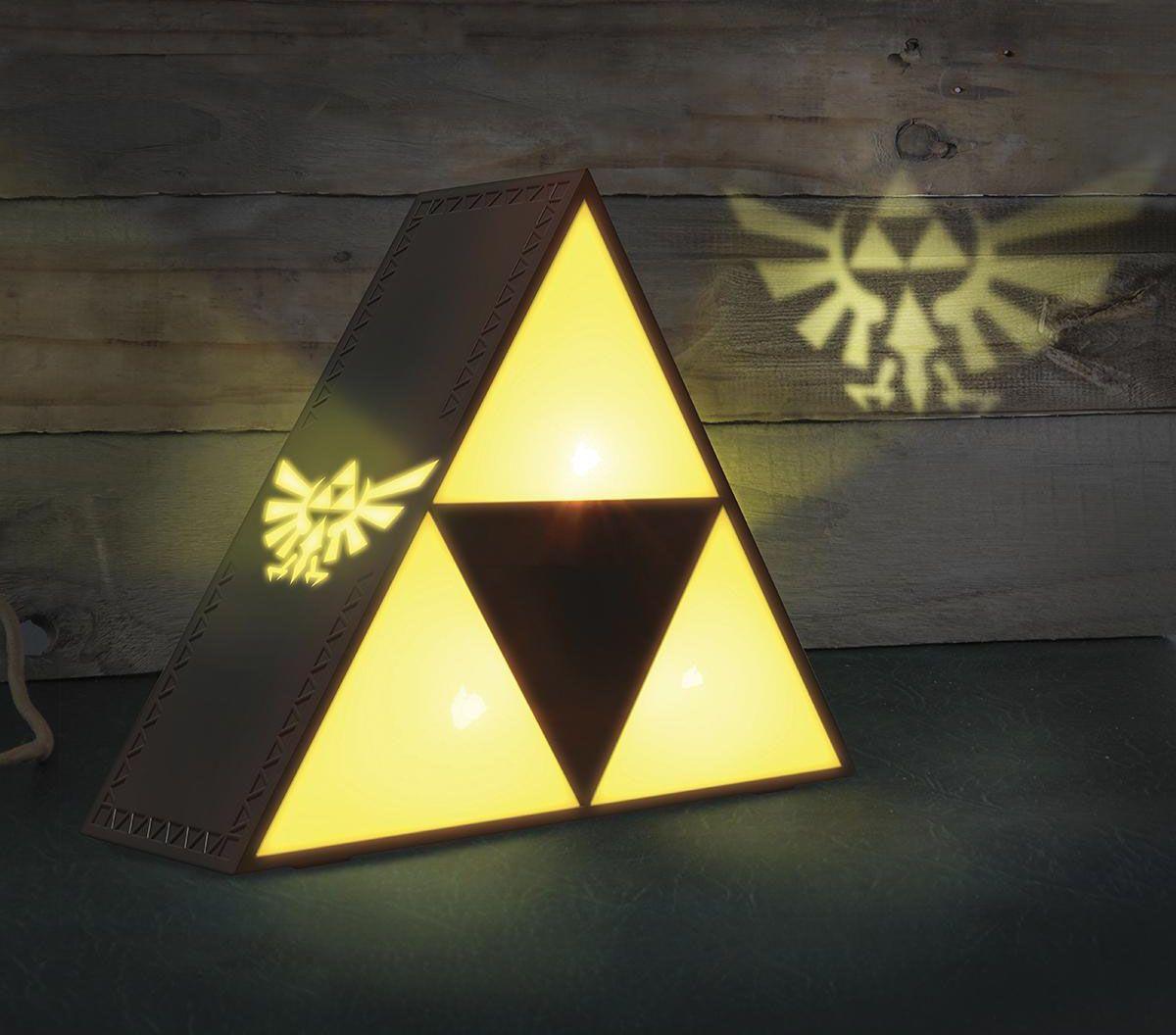 Image of   The Legend Of Zelda Triforce Lampe gul-grå