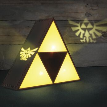 The Legend Of Zelda Triforce Lampe jaune/gris