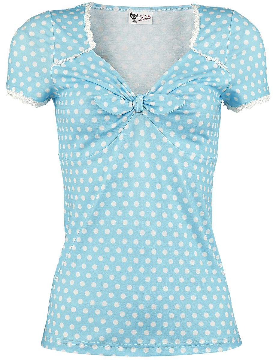 Marki - Koszulki - Koszulka damska Pussy Deluxe Candy Love Loop Shirt Koszulka damska jasnoniebieski - 341247