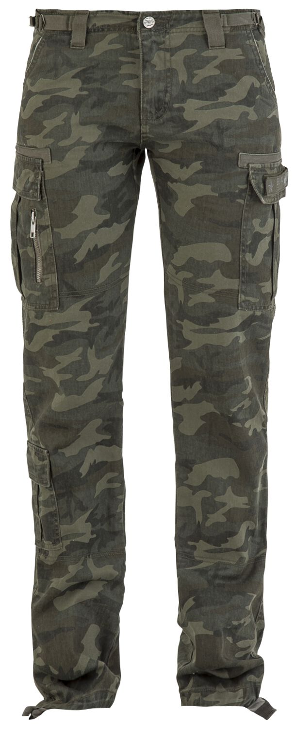Image of   Black Premium by EMP Army Vintage Trousers Girlie bukser camouflage
