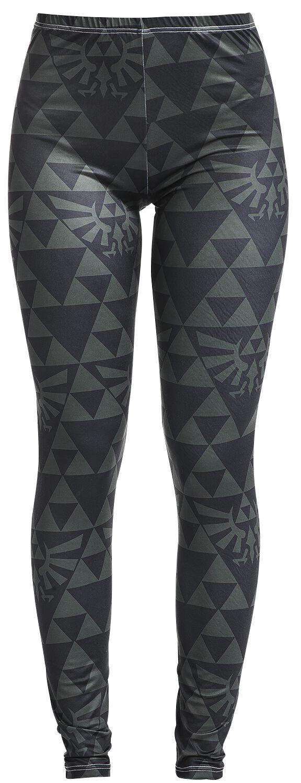 Hosen - The Legend Of Zelda Wingcrest Triforce Leggings schwarz grün  - Onlineshop EMP