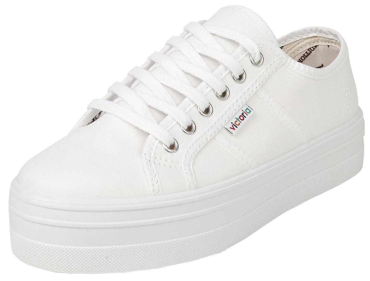 Sneakers für Frauen - Victoria Basket Lona Plataforma Sneaker weiß  - Onlineshop EMP