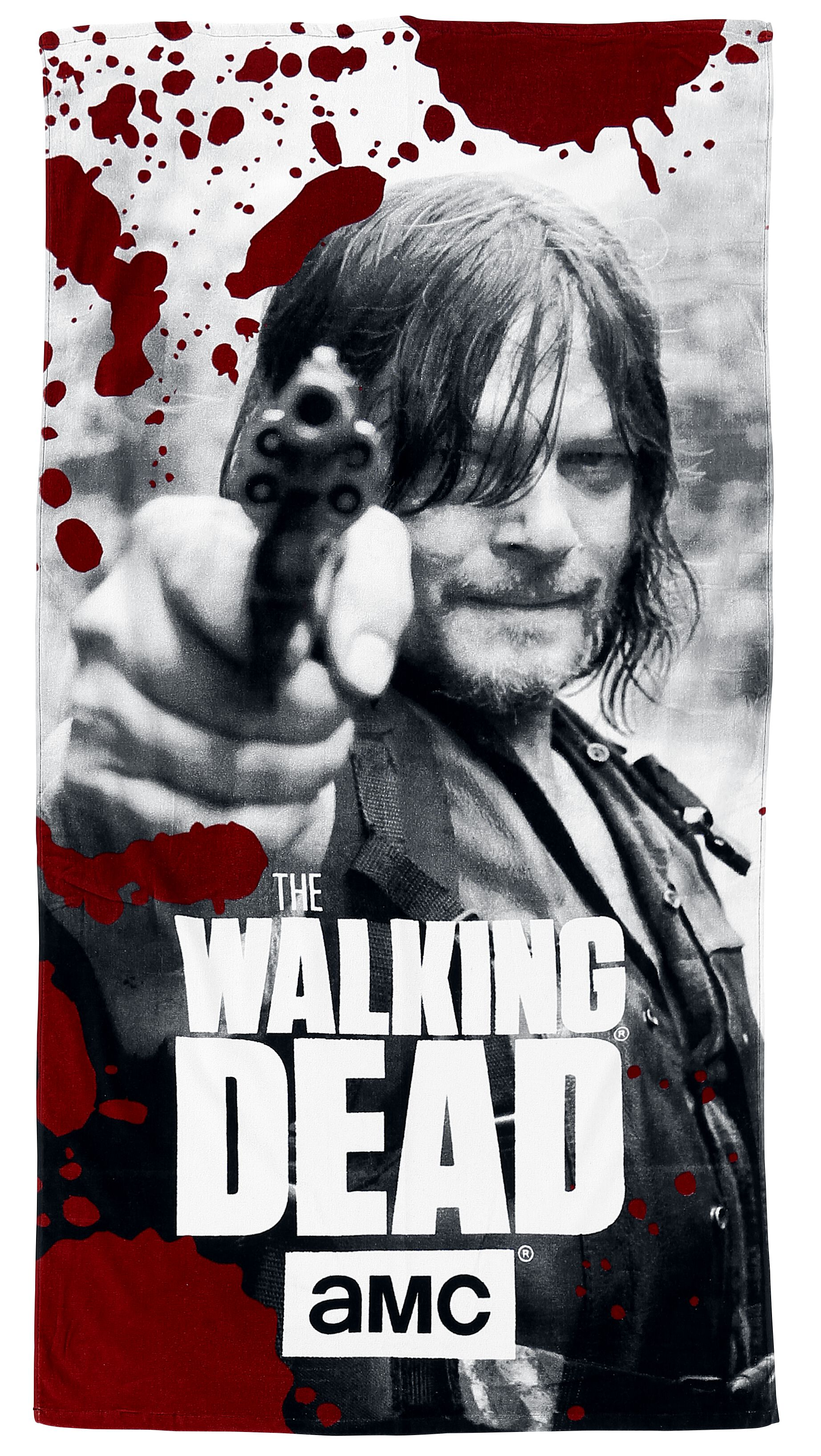 Image of   The Walking Dead Daryl Dixon Strandhåndklæde sort-rød