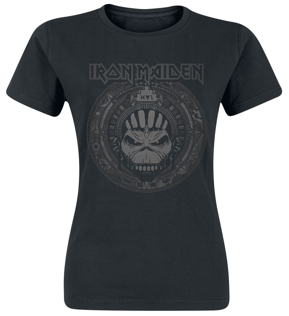 Image of   Iron Maiden Book Of Souls Skull Girlie trøje sort
