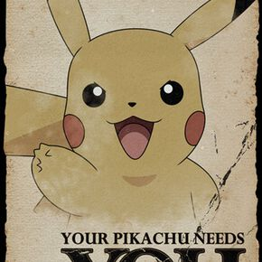 Pokémon Pikachu Needs You Poster multicolore