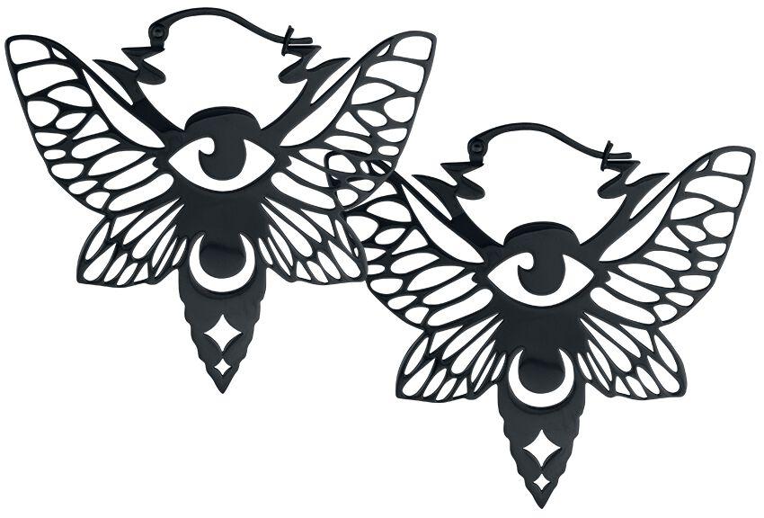 Image of   Wildcat Mystic Moth Hoops Øreringe sæt Standard