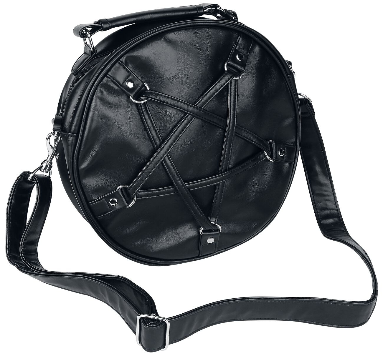 Image of   Banned Big Pentagram Håndtaske sort