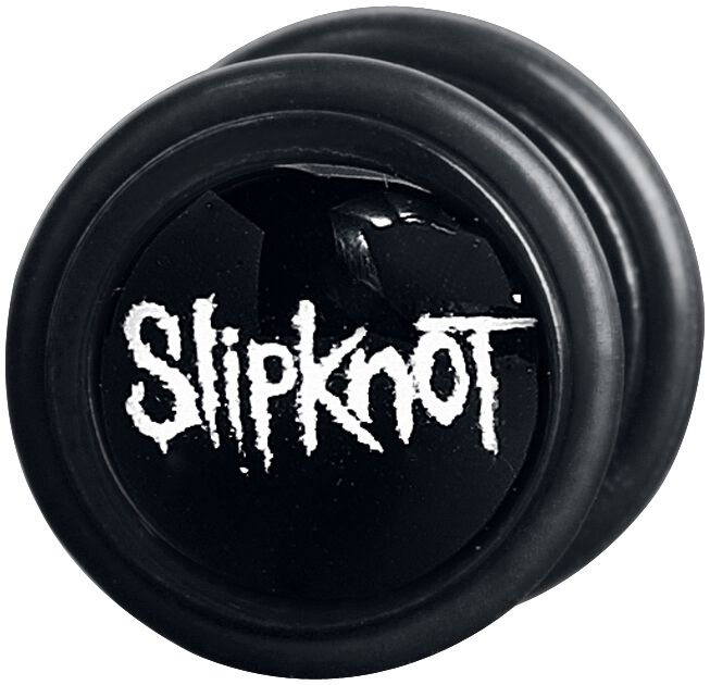 Image of   Slipknot Logo Fake plug sæt sort