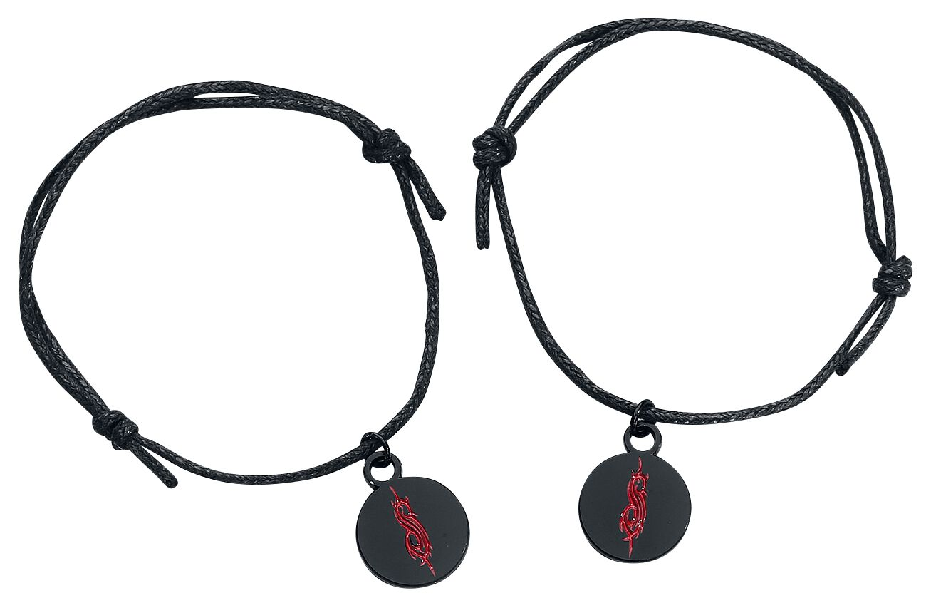 Image of   Slipknot Red Tribal Logo Armbånd, sæt sort