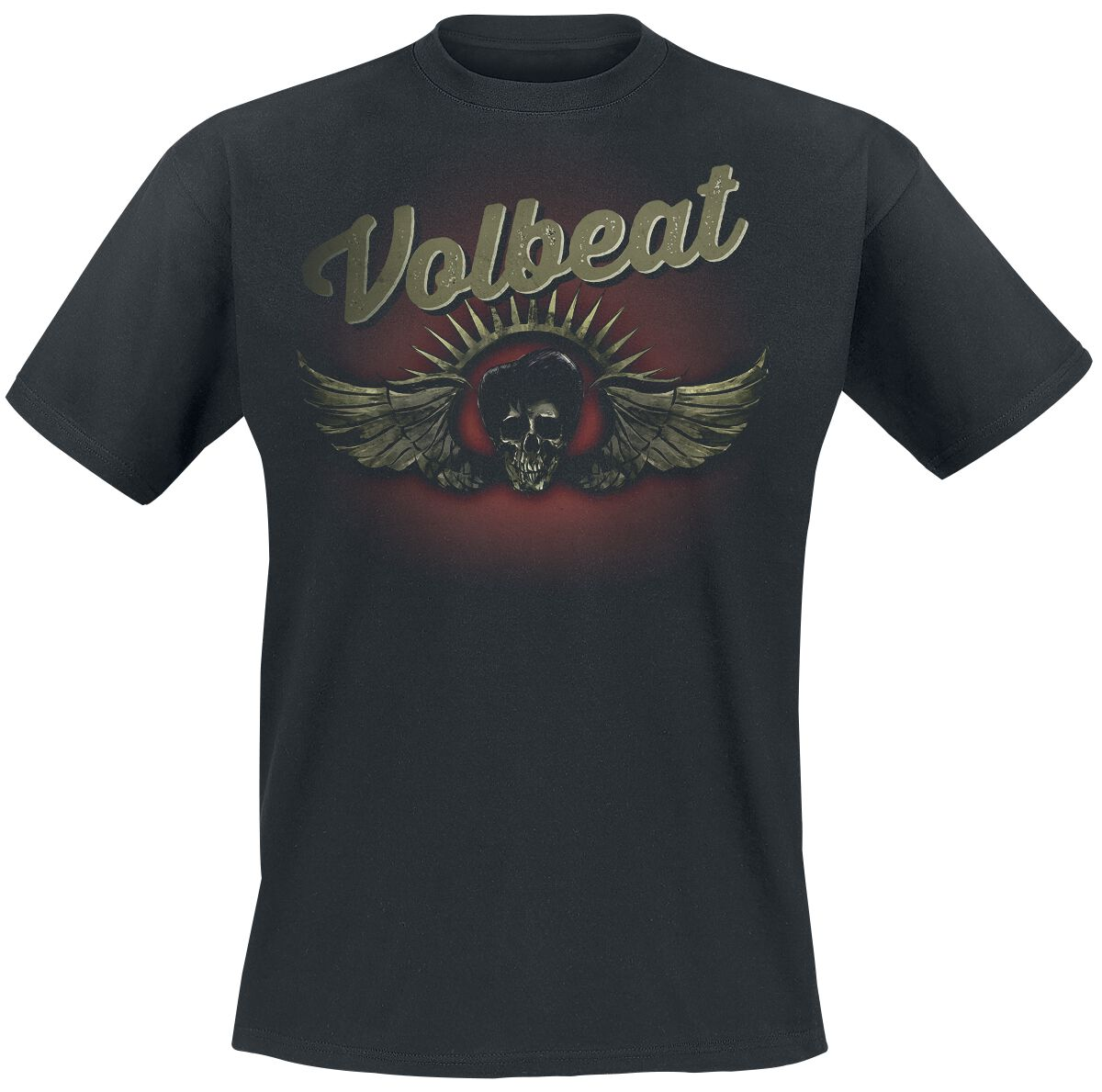 Image of   Volbeat Dark Skullwing T-Shirt sort