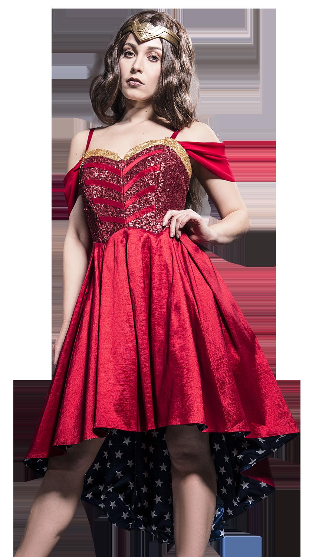 Wonder Woman Stars Dress Sukienka wielokolorowy