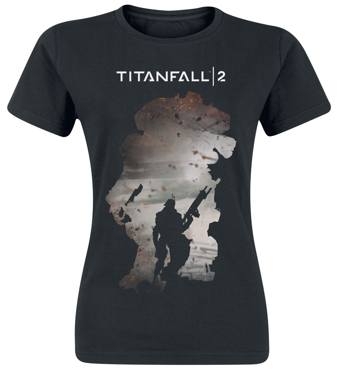 Merch dla Fanów - Koszulki - Koszulka damska Titanfall 2 - Titan Scorch & Regie Koszulka damska czarny - 342147