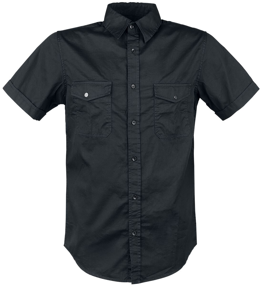 Image of   Black Premium by EMP Basic Shortsleeve Shirt Skjorte sort