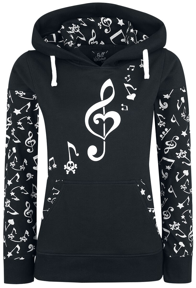 Image of   Full Volume by EMP Notes Hoodie Girlie hættetrøje sort