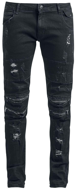 Image of   Rock Rebel by EMP Damaged Jared (Slim Fit) Jeans sort
