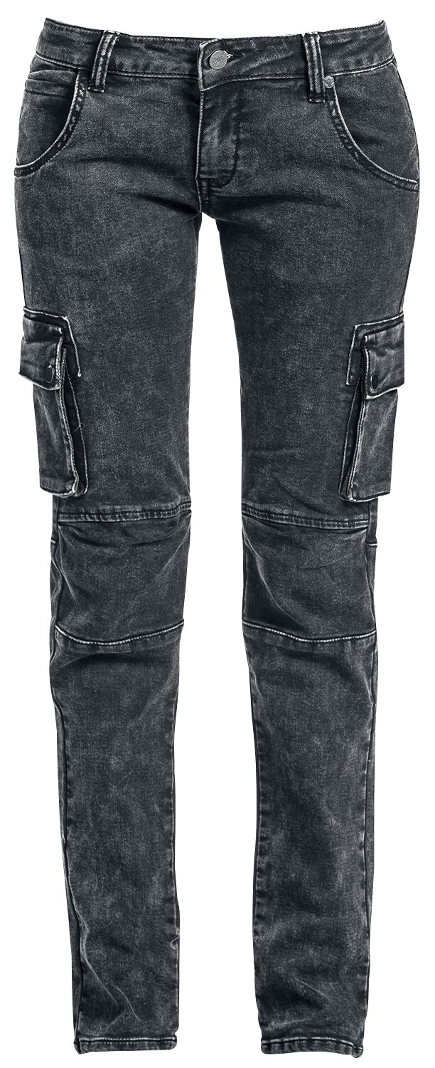 Image of   Black Premium by EMP Army Vintage Trousers Girlie jeans grå