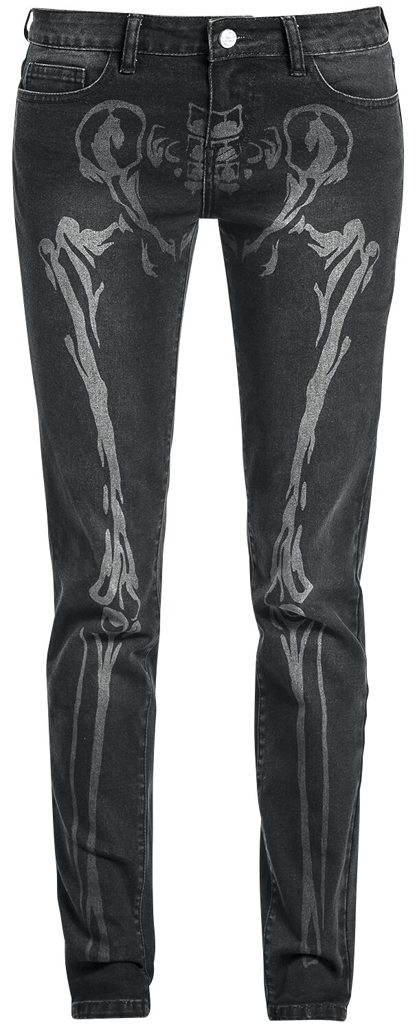 Image of   Full Volume by EMP Bone Skarlett (Slim Fit) Girlie jeans sort