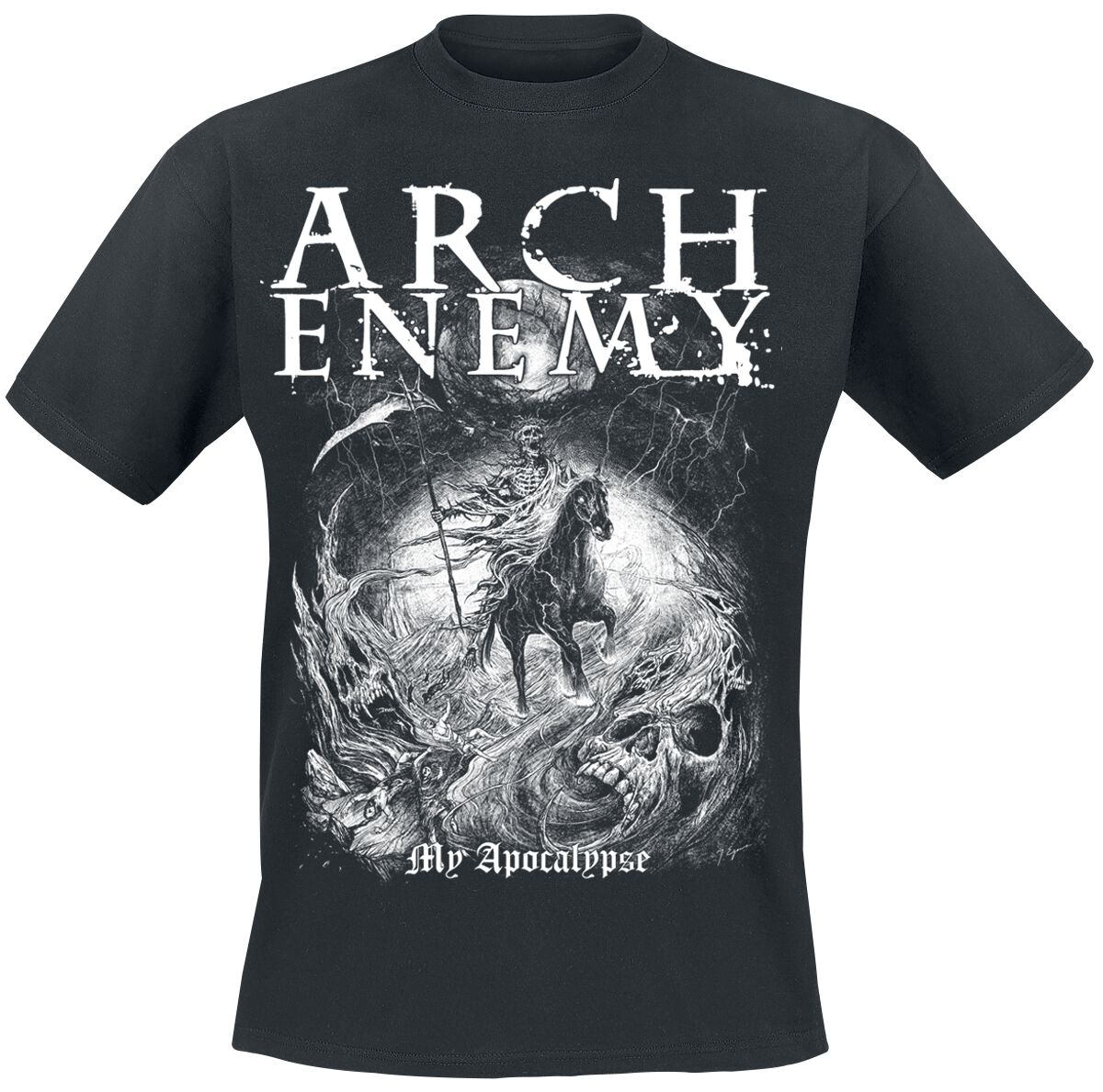 Image of   Arch Enemy My Apocalypse T-Shirt sort