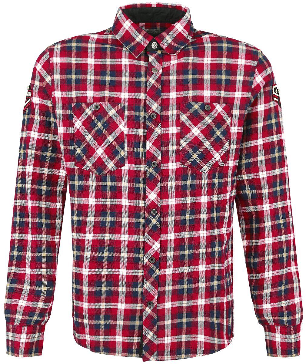 Image of   Rock Rebel by EMP Checkered Embroidery Shirt Skjorte rød-sort