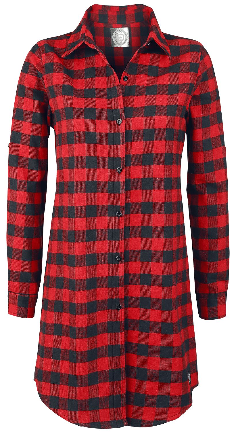 Image of   RED by EMP Checkered Oversize Shirt Girlie Skjorte rød-sort