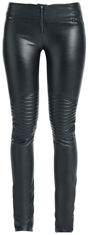 Image of   Fashion Victim Leather Biker Girlie bukser sort