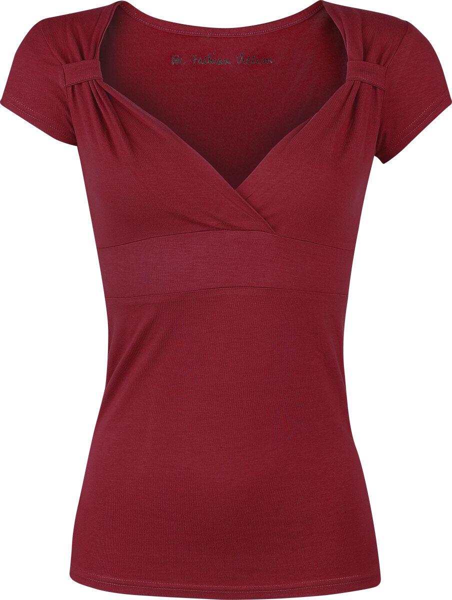 Image of   Fashion Victim Fashion V-Top Girlie trøje bordeaux