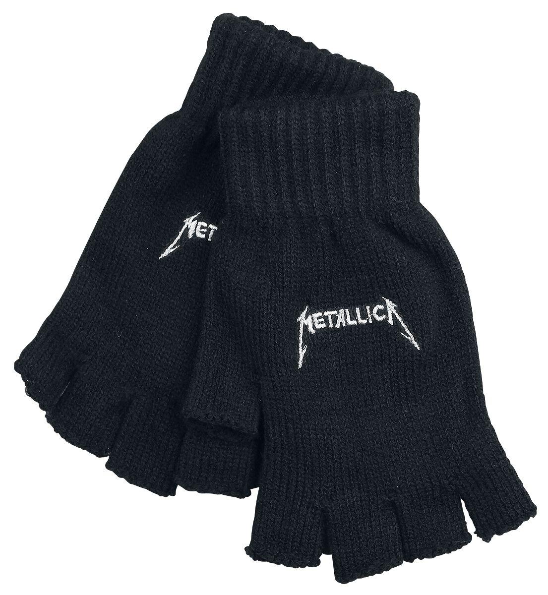Image of   Metallica Logo Fingerløse handsker sort