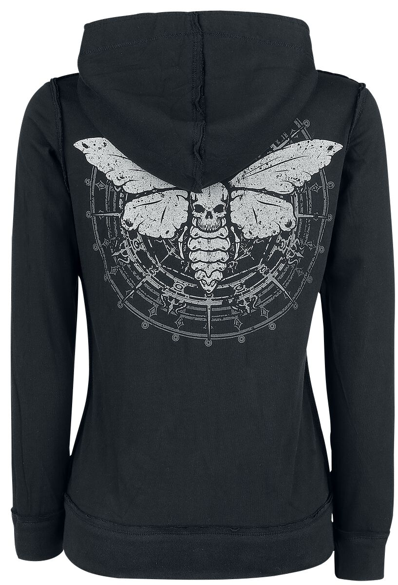 Image of   Gothicana by EMP Lace Moth Hoodie Jacket Girlie hættejakke sort