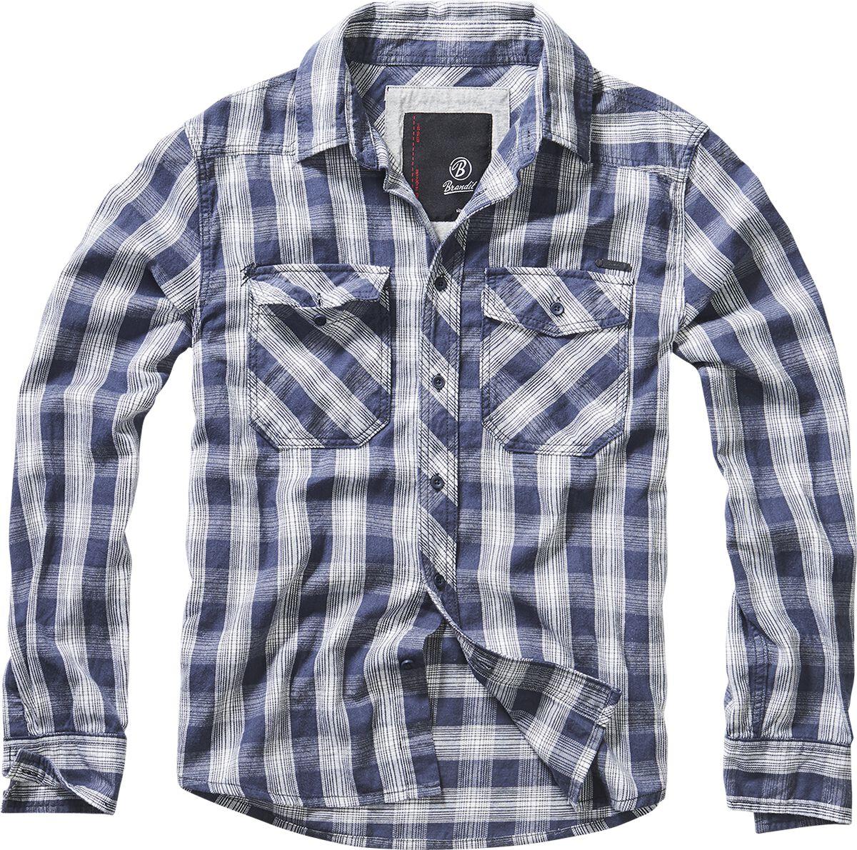 Image of   Brandit Great Greek Skjorte blå/råhvid