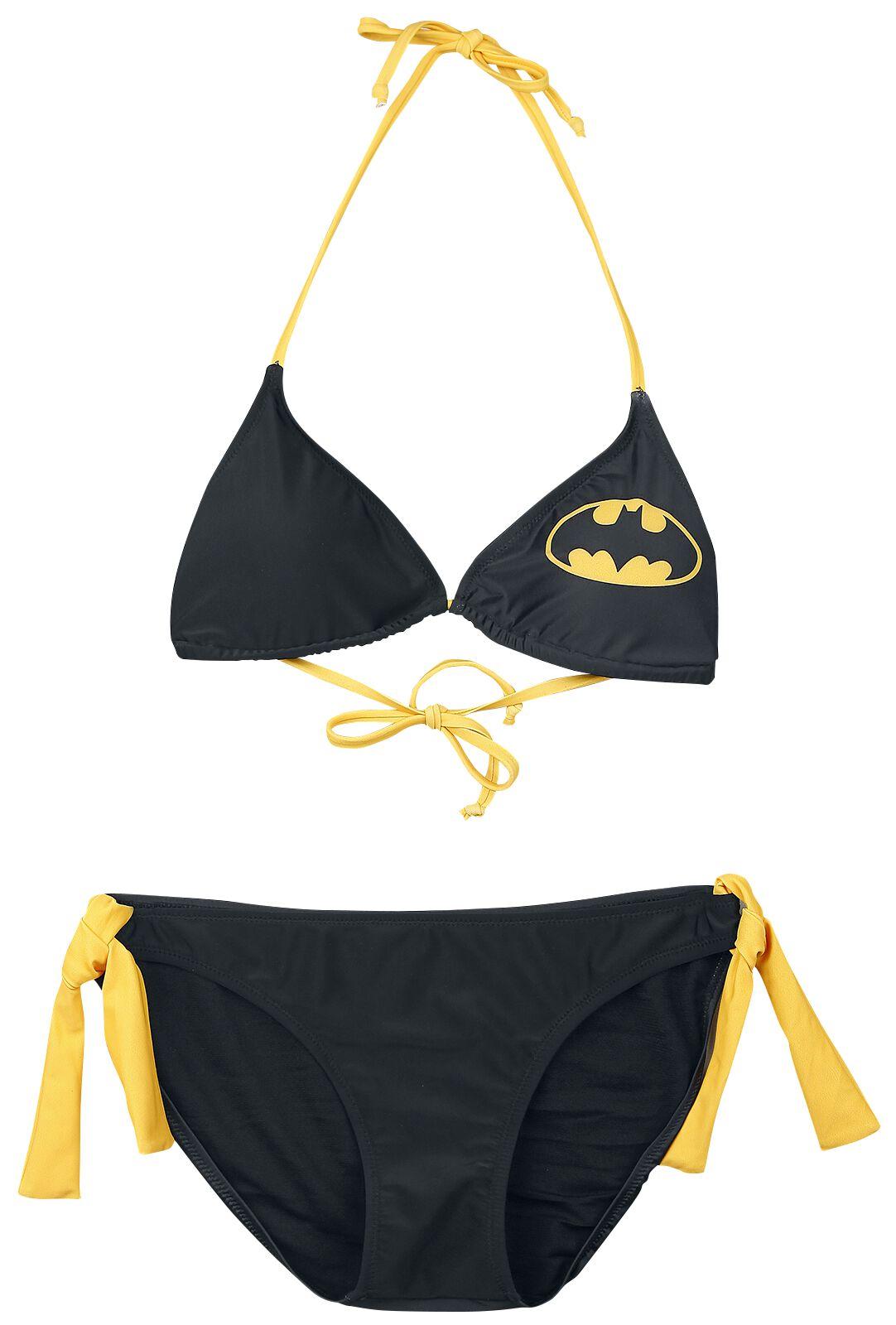 Image of   Batman Logo Bikini sort-gul