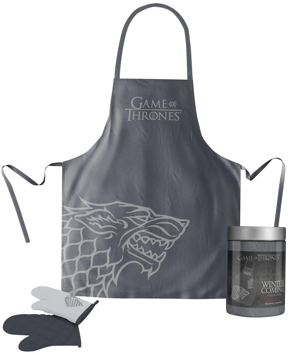 Image of   Game Of Thrones House Stark Køkkenforklæde sort