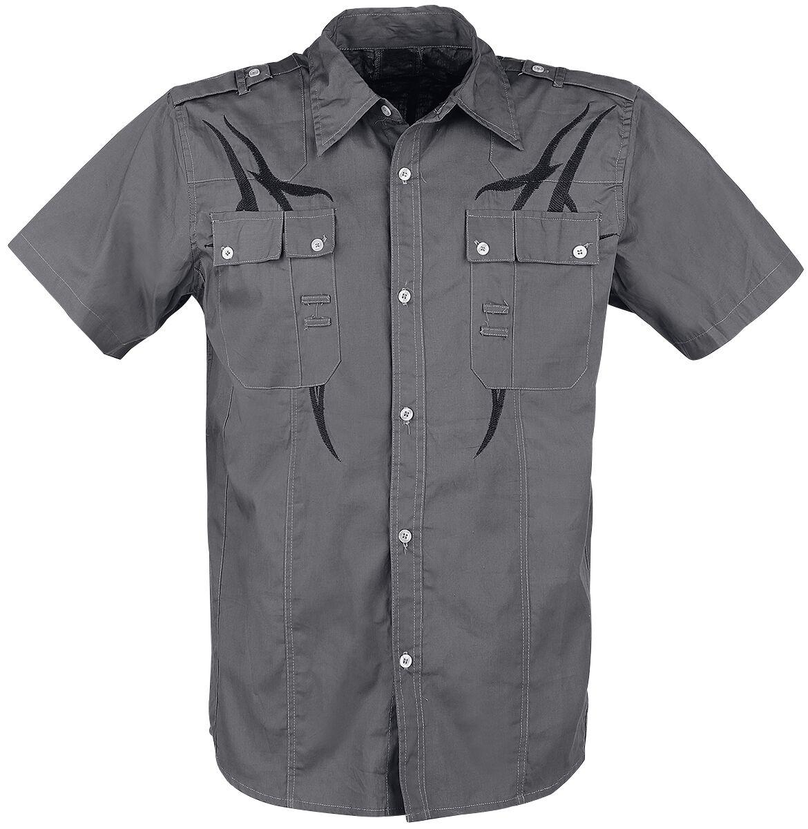 Marki - Koszule z krótkim rękawem - Workershirt Doomsday Tribal Shirt Workershirt szary/czarny - 342975