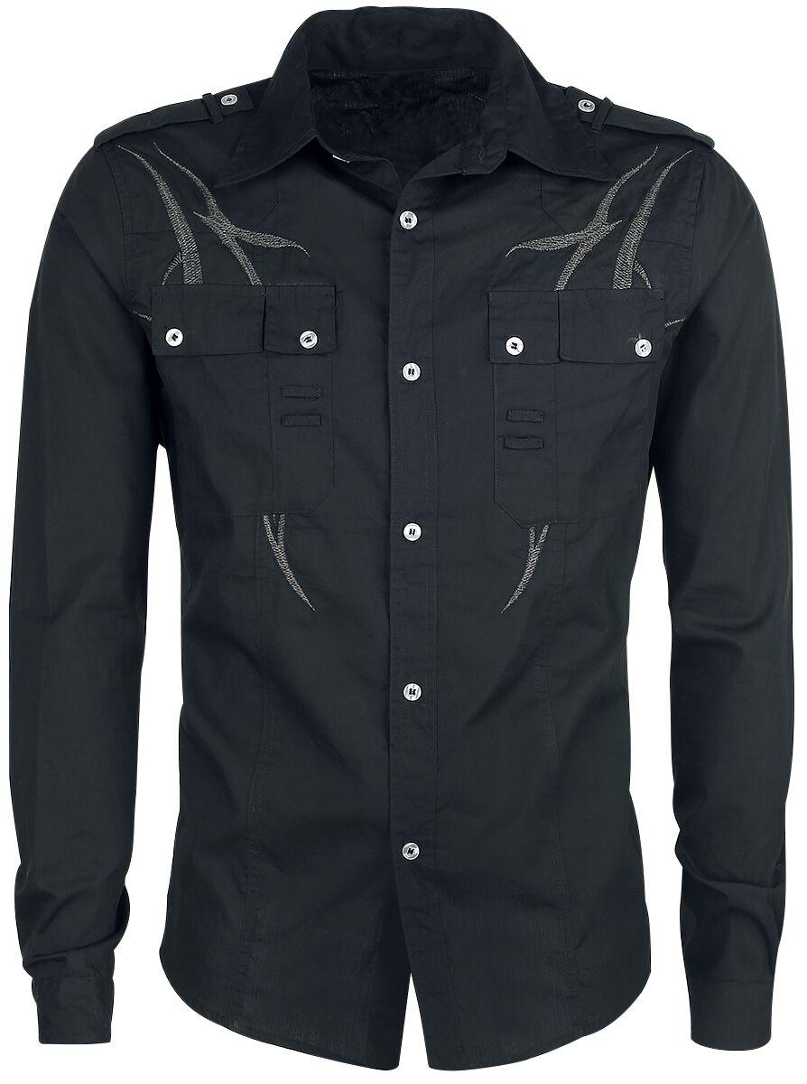 Marki - Koszule z długim rękawem - Koszula Doomsday Black Tribe Koszula czarny/szary - 343002