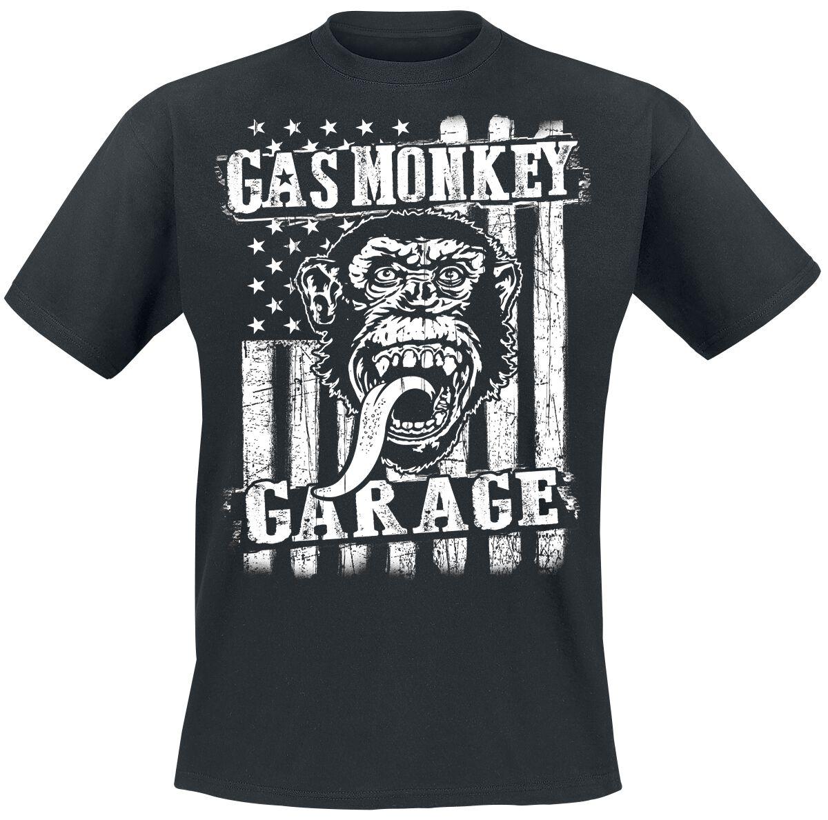 Gas Monkey Garage GMG Distressed Flag T-Shirt s...
