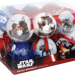 Star Wars Set of 12 baubles Boule de Noël noir