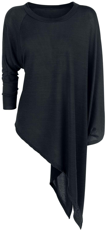 Image of   Forplay Knitted Asymmetric Sweater Girlie sweatshirt sort