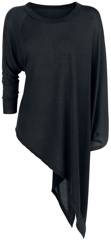 Forplay Knitted Asymmetric Sweater Bluza damska czarny