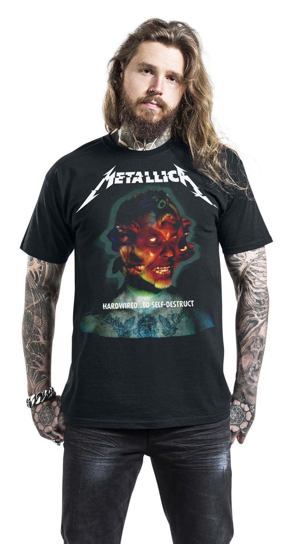 metallica hardwired to self destruct t shirt schwarz ebay. Black Bedroom Furniture Sets. Home Design Ideas