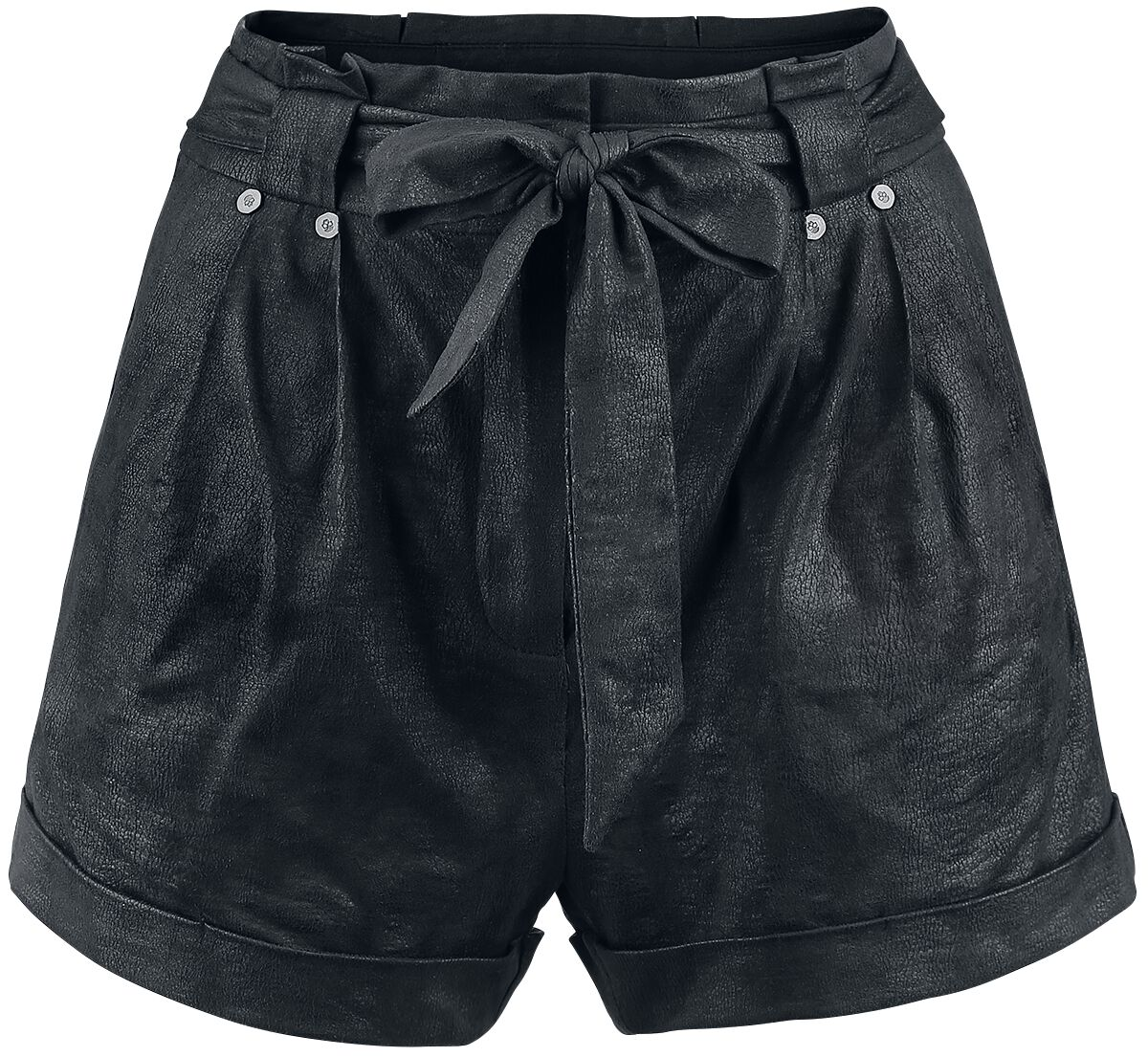 Image of   Rock Rebel by EMP Fake Suede Leather Shorts Girlie shorts sort
