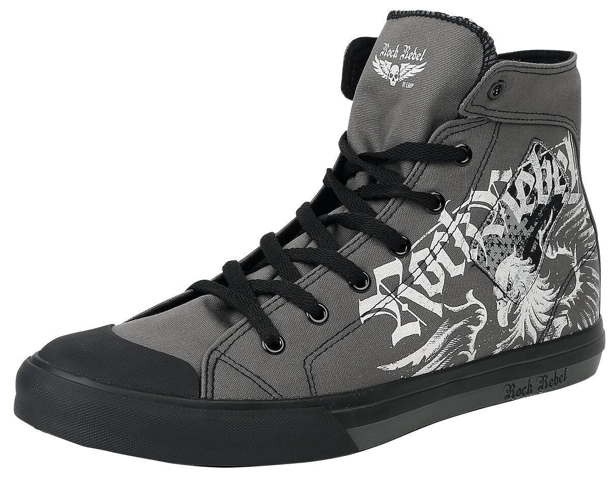 Image of   Rock Rebel by EMP Evil Eagle Sneaker Sneakers grå