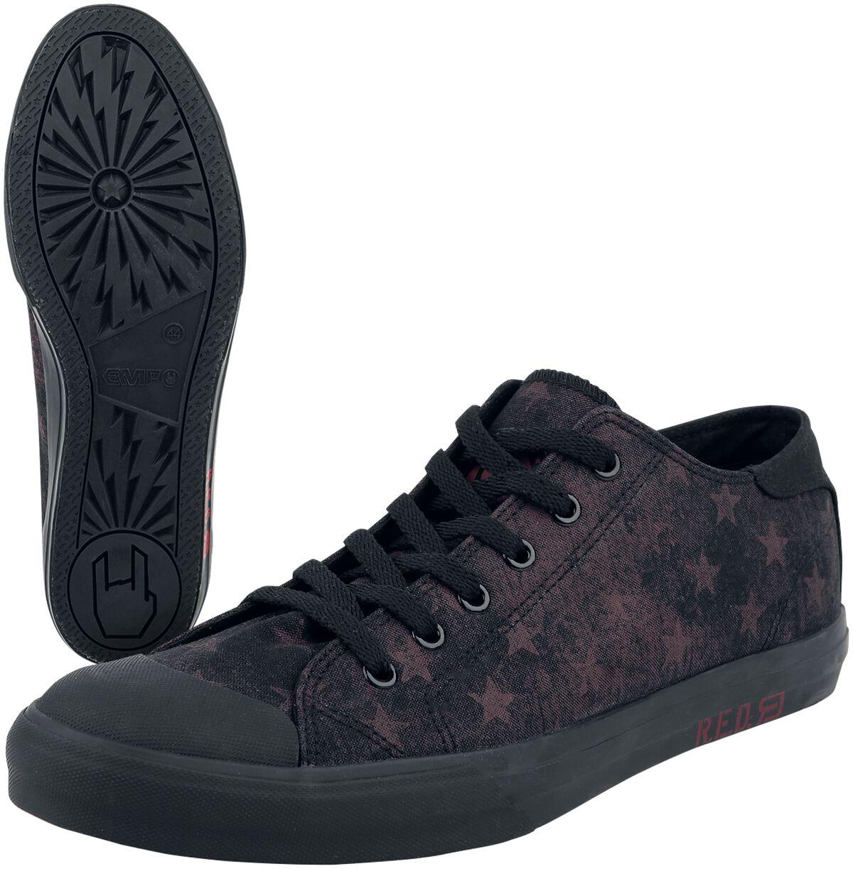 b6e356029cd Sneakers van red by emp: patch met logo op de schoentong print met logo op