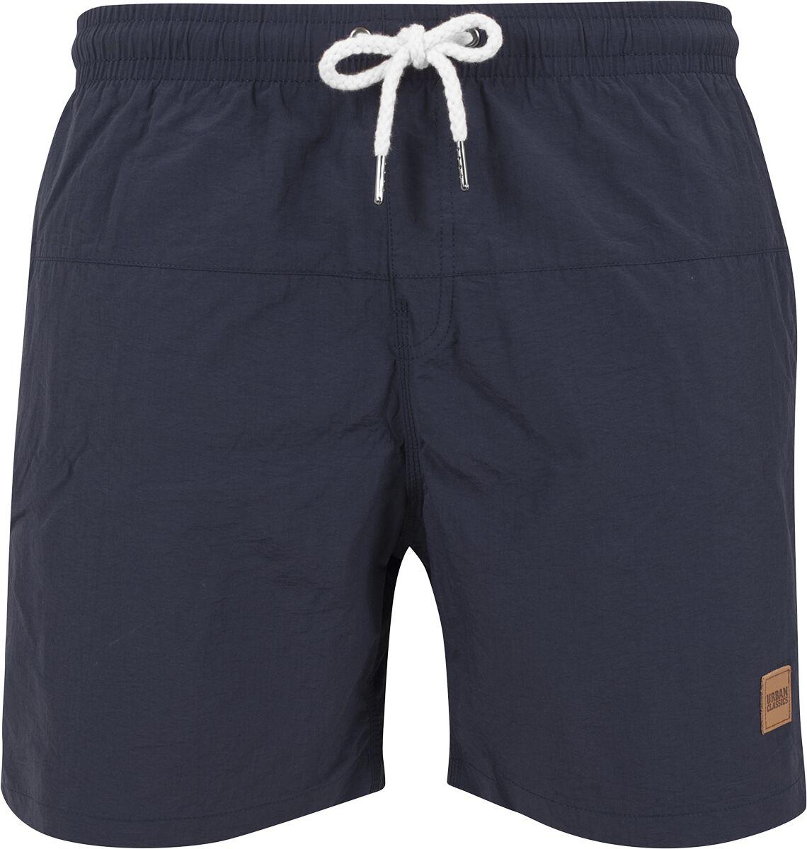 Image of   Urban Classics Block Swim Shorts Badeshorts navy