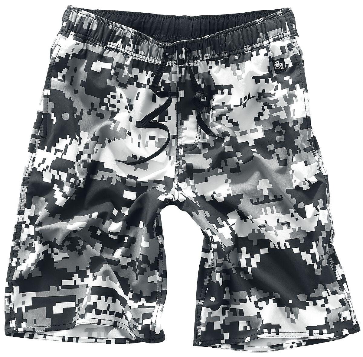 Marki - Odzież kąpielowa - Kąpielówki Doomsday Pixel Shorts Kąpielówki szary/biały - 343673