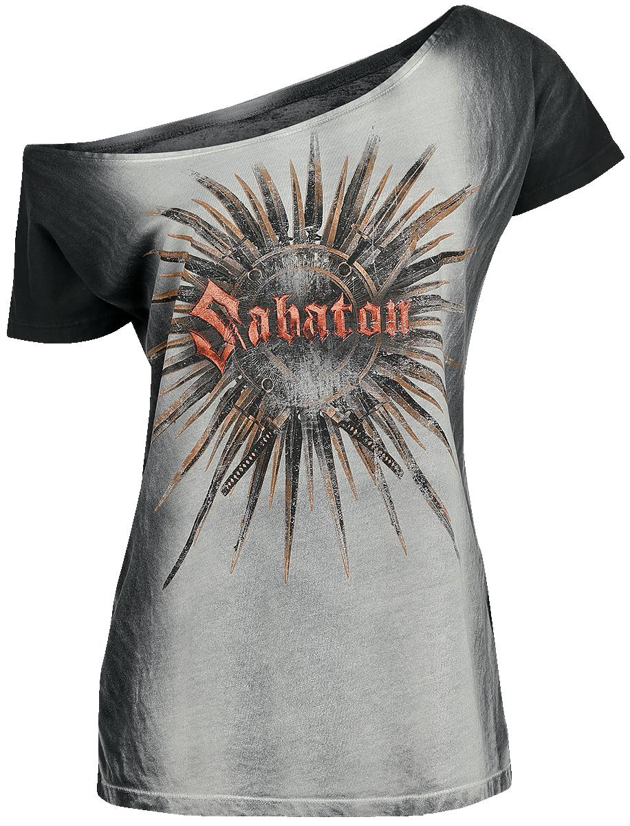 Sabaton Shiroyama Koszulka damska czarny/srebrny