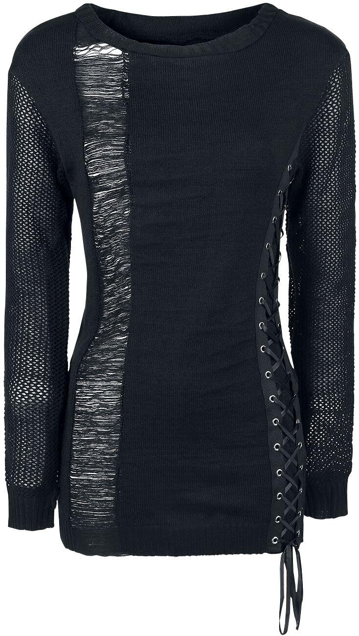 Marki - Bluzy - Sweter z dzianiny Heartless Dropout Top Sweter z dzianiny czarny - 344027