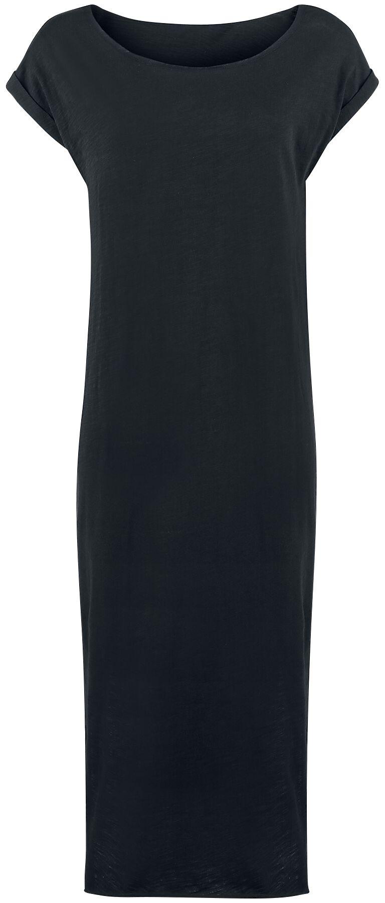 Kleider für Frauen - Urban Classics Ladies Long Slub Dress Kleid schwarz  - Onlineshop EMP