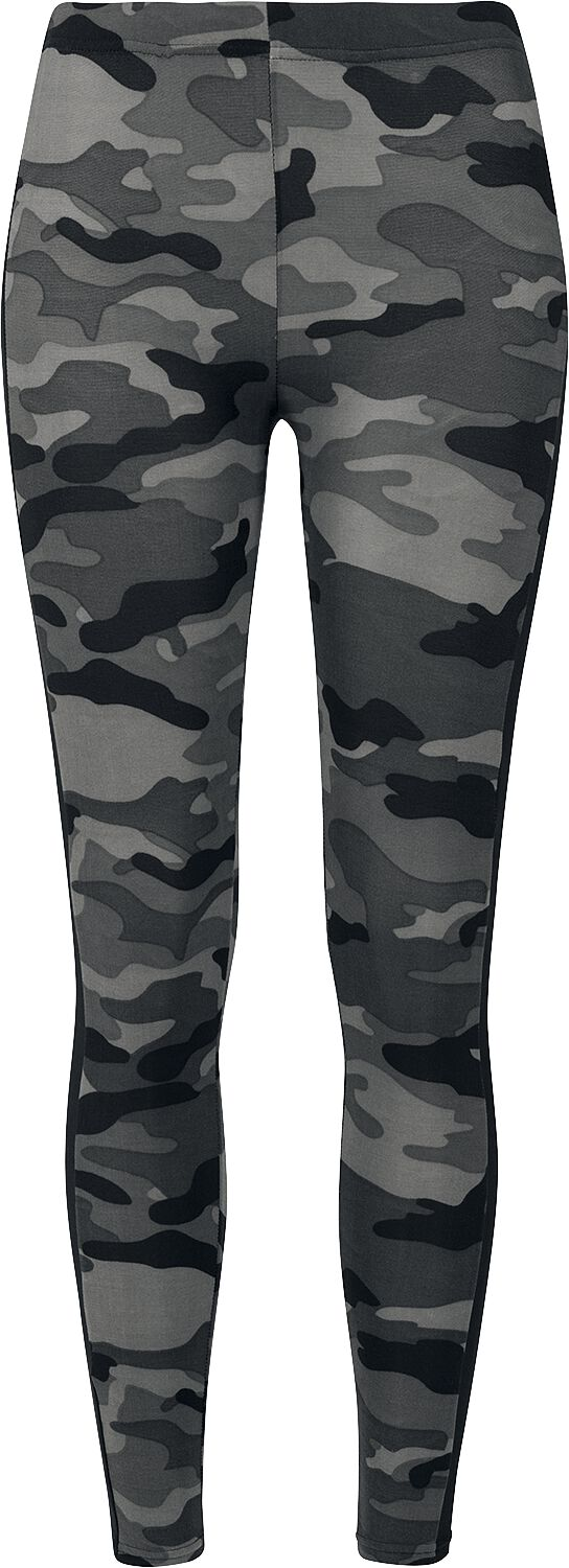 Hosen für Frauen - Urban Classics Ladies Camo Stripe Leggings Leggings darkcamo schwarz  - Onlineshop EMP