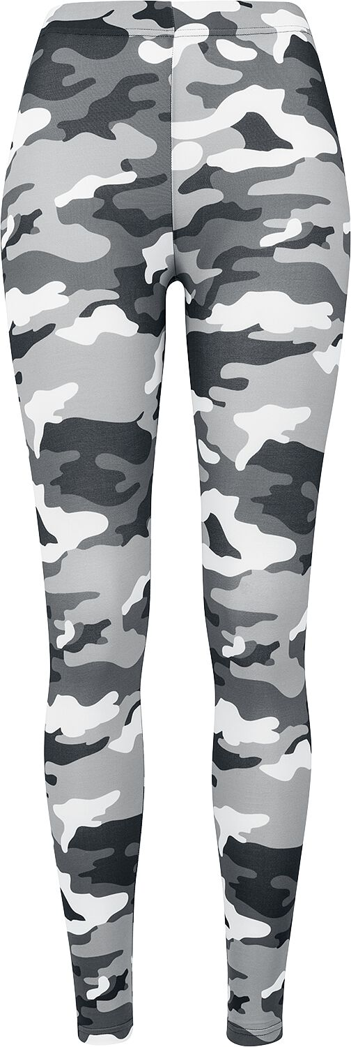 Hosen für Frauen - Urban Classics Ladies Camo Leggings Leggings snowcamo  - Onlineshop EMP