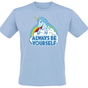 Unicorn Always Be Yourself Unicorn T-shirt bleu clair